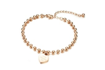 Tiffany's Love Rose Gold Anklet-Rose Gold
