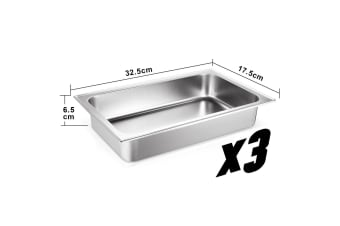 4 Sets Chafing Dishes Stainless Steel Food Warmer Buffet Set