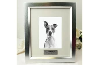 Pet Memorial Personalised Photo Frame 5x7 Photo Silver