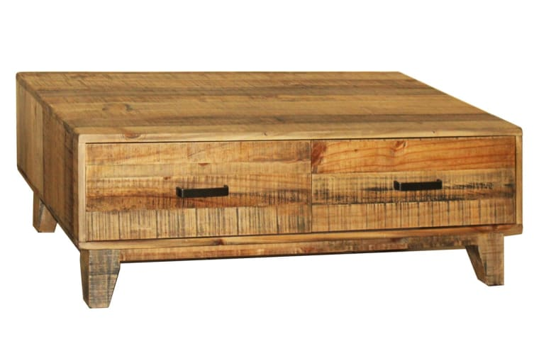 Woodstyle Coffee Table with 4 Drawers
