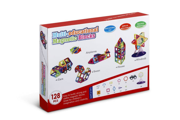 128 Piece Magnet Tiles Set