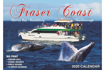 Fraser Coast Australia - 2020 Rectangle Wall Calendar 16 Months by Bartel