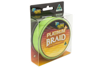 Platypus Braided Fishing Line Platinum Plus Green 300yds 20lb