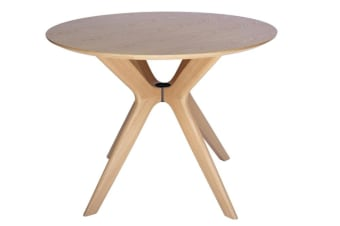 Doreen Collection | Wood Round Dining Table | Natural | 100cm