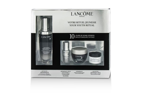 Lancome Advanced Genifique (Your Youthful Ritual) Set: Concentrate 50ml + Cream 15ml + Yeux Light-Pearl 5ml + Eye Cream 5ml (4pcs)