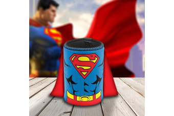 Superman Stubby Holder With Cape – DC Comics Official Beer Sleeve Can Cooler Comic Book Hero Father's