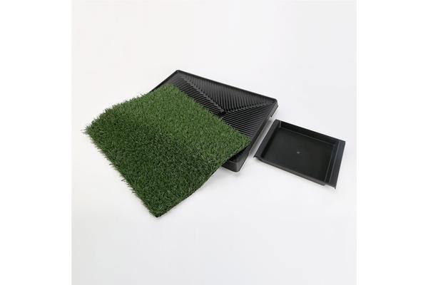 Pet Potty Training Pad Tray L - 1 Grass Mat