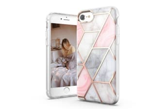 TITSHARK Marble Pattern Shockproof Tough High-quality stylish Case Cover For iPhone 6/7/8 Plus-Pink