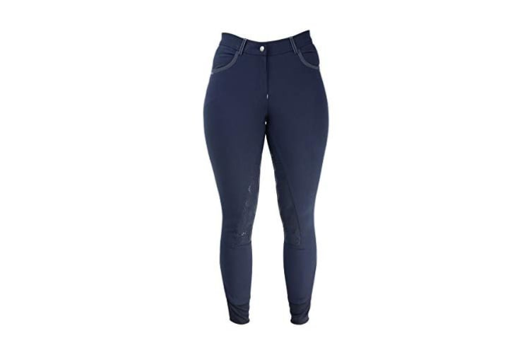 HyPERFORMANCE Womens/Ladies Highgrove Breeches (Navy/Silver) (24in)