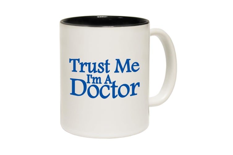 123T Funny Mugs - Trust Me Doctor - Black Coffee Cup