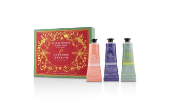Crabtree & Evelyn Floral Winter Hand Trio (1x Lavender & Espresso  1x Rosewater & Pink Peppercorn  1x Pear & Pink Magnolia) 3x25ml/0.86oz