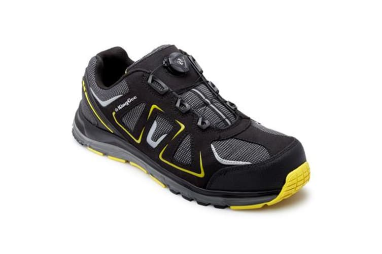 King Gee Comp-Tec BOA Work Shoes (Black/Yellow, Size 10)