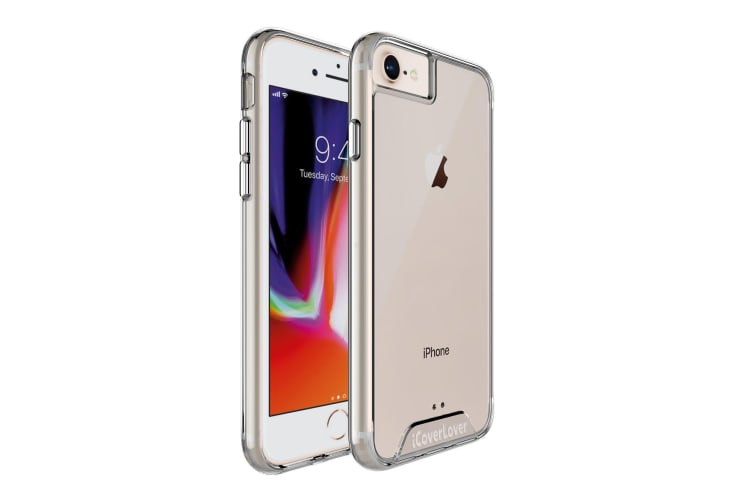 For iPhone 8  7  6 & 6S Case iCoverLover Shockproof Clear Cover Thin Transparent