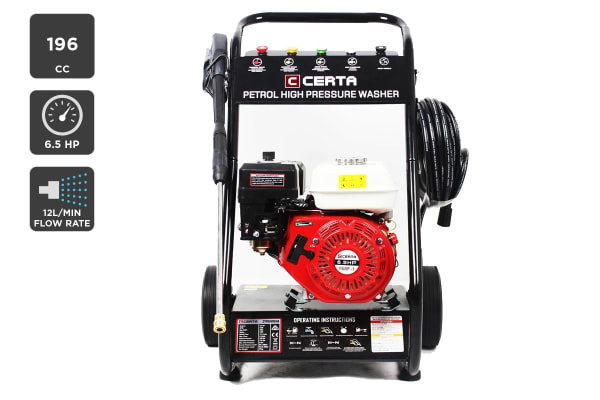 Certa 6.5HP 196CC Petrol High Pressure Washer