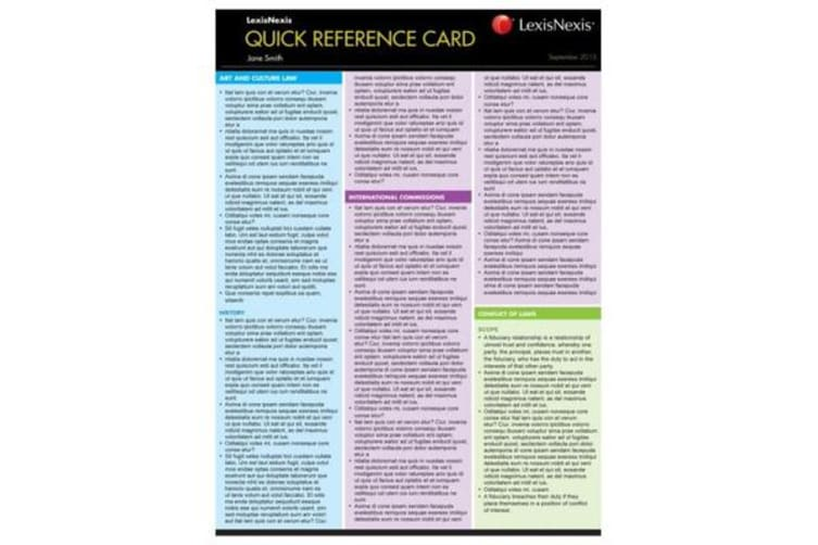 Quick Reference Card - Succession Law