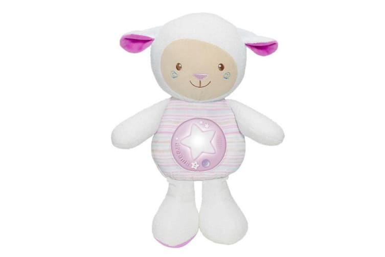 Chicco Lullaby Sheep Baby Toy/Night light w/Voice Recorder/Sound Sensor 0m+ Pink