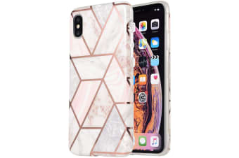 Marble Pattern Soft TPU Case Elegant Stylish Shockproof Silicone Cover for iPhone 11-Coral