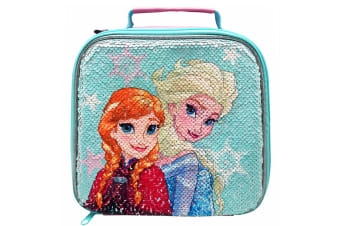 Frozen Anna and Elsa Sequin Lunch Bag (Multicoloured) (One Size)
