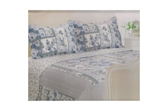 E Of W Nevada Quilted Floral/Striped Bedspread With Pillowshams Bedding Set (Nevada)