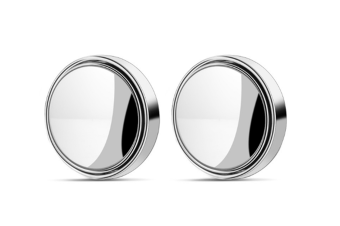 360 Degree Frameless Car Rearview Mirror Wide Angle Round Convex Blind Spot Silver
