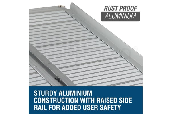 EQUIPMED Aluminium Fold-out Wheelchair & Scooter Portable Loading Access Ramp 1m