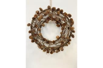 Natural Pine And Twig Wreath (Brown) (50cm)