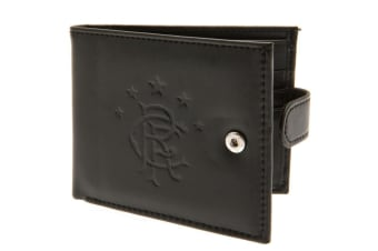 Rangers FC RFID Anti Fraud Leather Crest Wallet (Brown)
