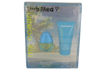 Coty Club Med My Ocean Gift Set - Mini Eau De Toilette Spray + 1.85 oz Body Lotion