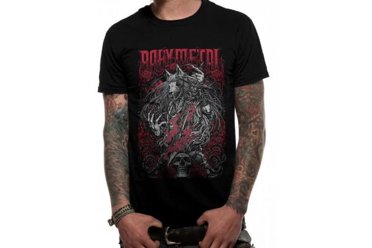 Babymetal Unisex Adults Rosewolf Design T-Shirt (Black) (M)