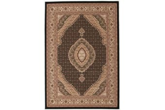 Stunning Formal Oriental Design Rug Black