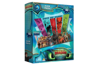 46pc Dream Works How to Train Your Dragon Floor Puzzle 91.4cm x 60.9cm