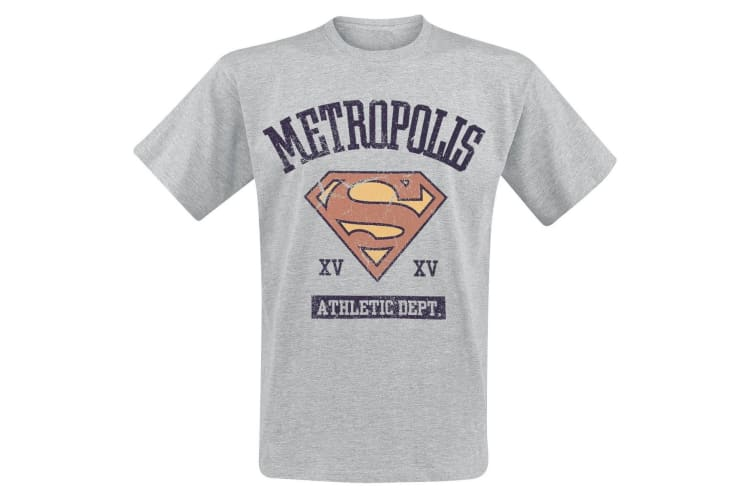Supergirl Adults Unisex Adults Athletic Department T-Shirt (Grey) (M)