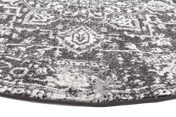 Scape Charcoal Transitional Rug 150x150cm