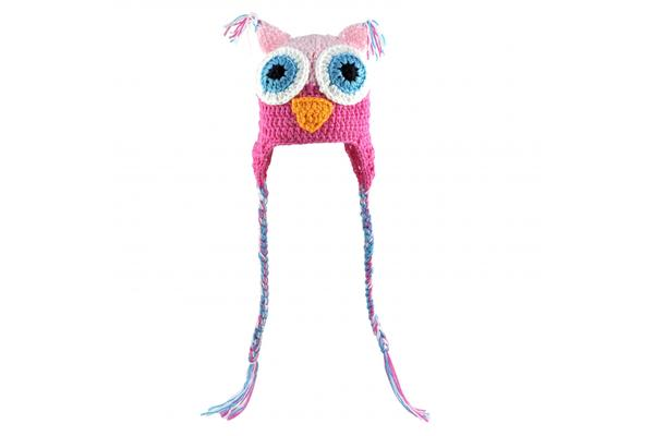 Baby Hat Owl-Pink
