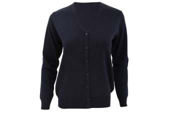 Kustom Kit Womens V-Neck Cardigan / Ladies Knitwear (Navy Blue)