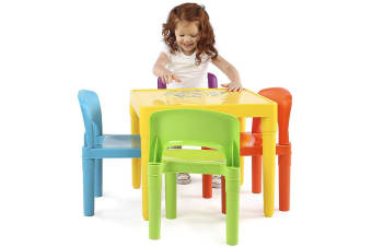 Delsun Kids Table & 4 Chairs Plastic Set