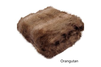 Luxury Long Hair Faux Fur Animal Throw Orangutan by Artex