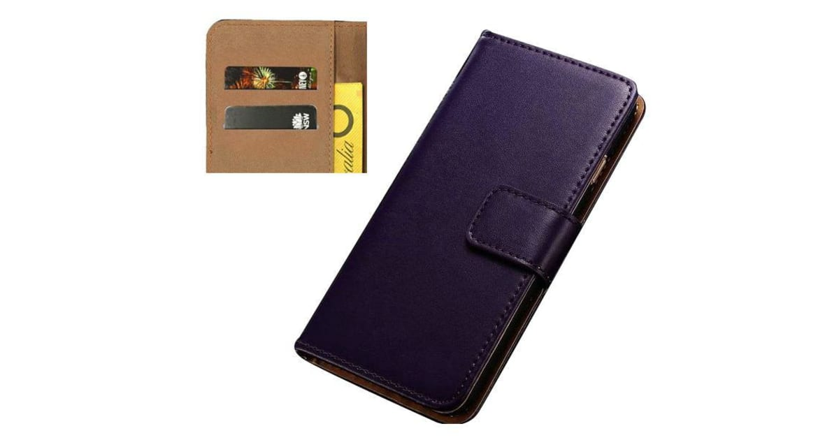cheap for discount f2e45 90dce For iPhone 8 PLUS 7 PLUS Wallet Case Elegant Slim Luxury Leather Cover  Purple | Phone Cases