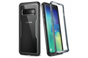 YOUMAKER Samsung Galaxy S10 Crystal Clear Shockproof Full-body Case Cover-Black