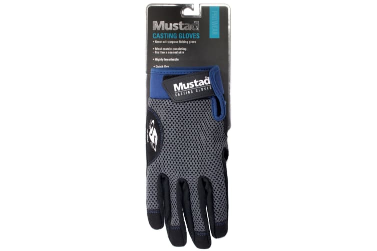 1 Pair of Large Mustad Casting Gloves - General Purpose Fishing Gloves