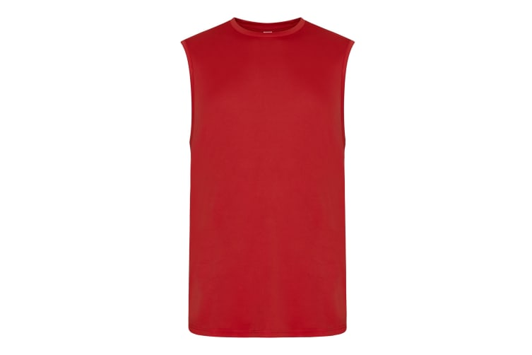 AWDis Just Cool Mens Smooth Sports Vest (Fire Red) (M)