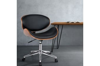 Artiss Executive Wooden Office Chair Home Leather Padded Computer Chairs Seating