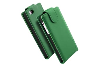 For iPhone SE 5S 5 Case iCoverLover Vertical Flip Genuine Leather Cover Green