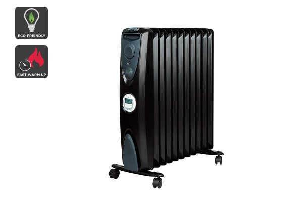 Dimplex 2.4kW Eco 11 Fin Column Heater with Timer - Black (OFRC24TIB)
