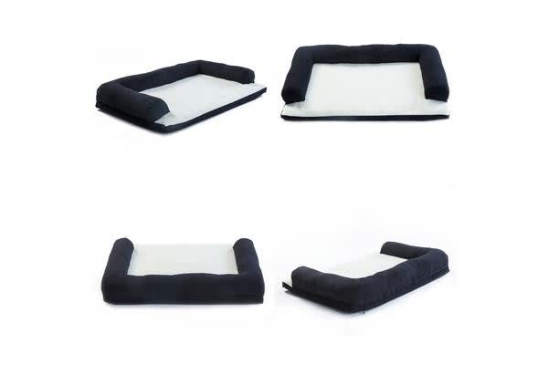 Pet Couch TUFTY XL - 90 x 60 x 15cm BLACK