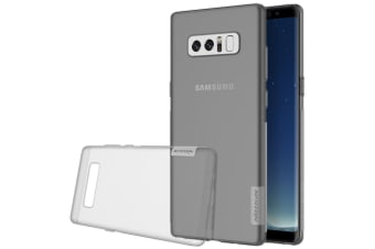 For Samsung Galaxy Note 8 Case Elegant Durable Transparent Protective Cover Grey