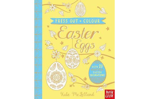 Press Out and Colour - Easter Eggs
