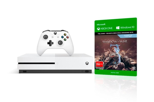 Xbox One S Console 500GB with Middle Earth Shadow of War