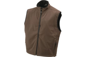 James and Nicholson Mens Waterproof Softshell Vest (Brown) (XXL)