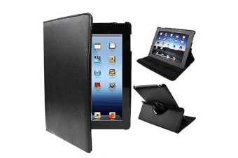 For iPad 2/3/4 Case  Rotatable Leather Durable Shielding Cover Black